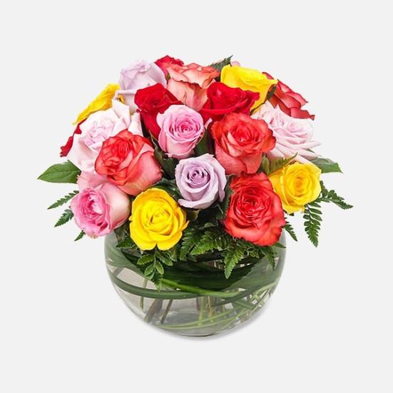Πολύχρωμος Κήπος με Τριαντάφυλλα