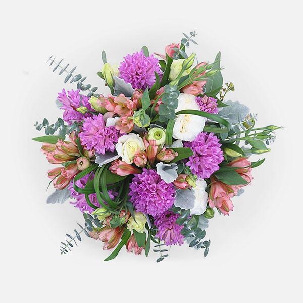 Jules - Hyacinths Alstroemeria Lisianthus - Flowernet.gr