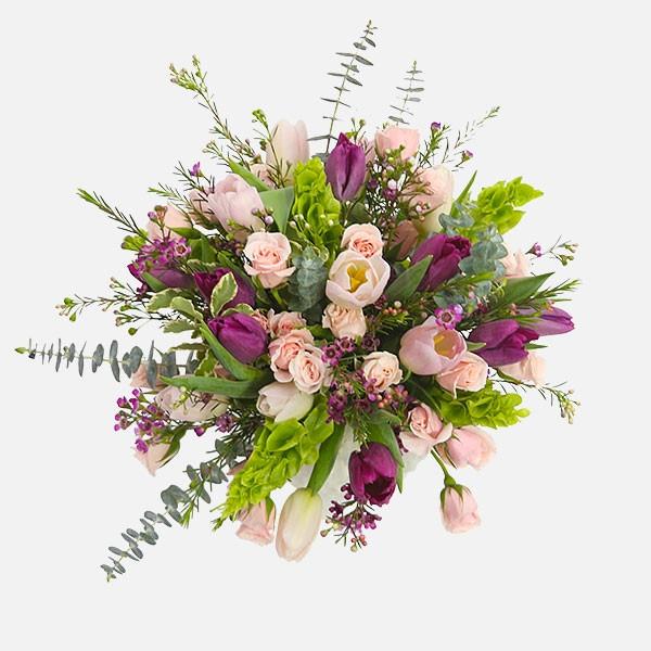 Serenity - Roses Tulips Eucalyptus - Flowernet.gr