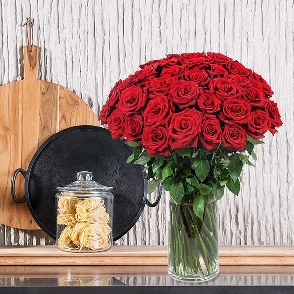 36 Υπέροχα Τριαντάφυλλα (60cm)  - flowernet.gr