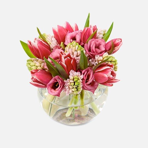 Γλυκό φιλί - Τουλίπες Υάκινθοι Λυσίανθοι - Flowernet.gr