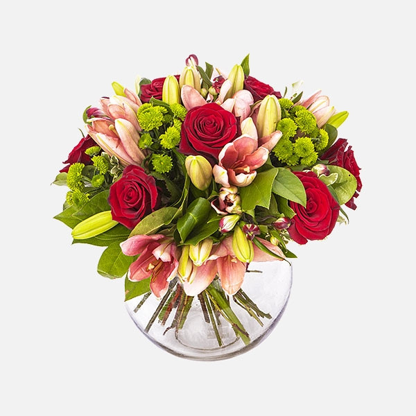 Evelyn - Τριαντάφυλλα Λίλιουμ Χρυσάνθεμα - Flowernet.gr