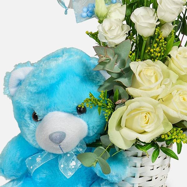 Baby Boy - Τριαντάφυλλα Λυσίανθοι - Flowernet.gr