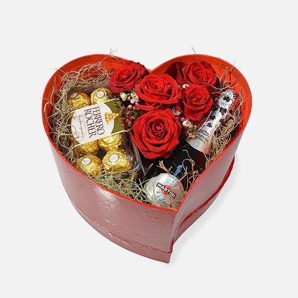 Love Celebration - Τριαντάφυλλα Σοκολατάκια Σαμπάνια - Flowernet.gr