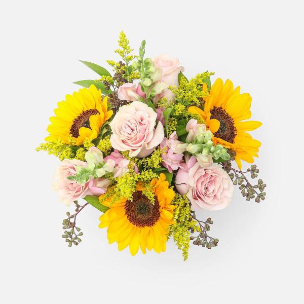 Ανάφη - Τριαντάφυλλα Σκυλάκια Ηλίανθοι - Flowernet.gr