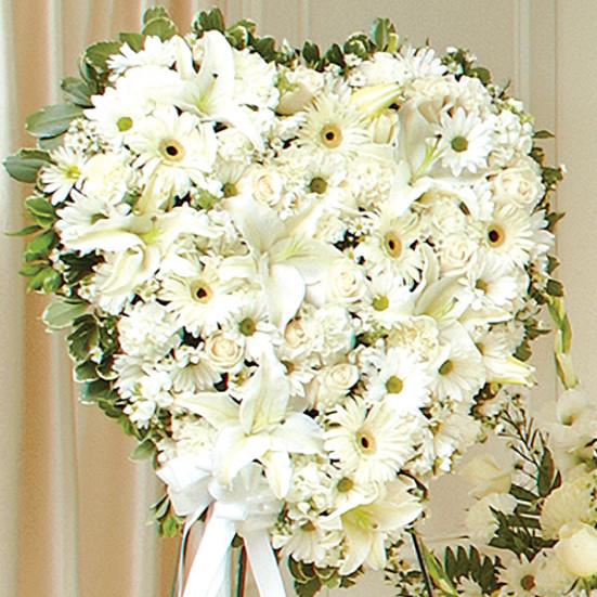 Λευκή Καρδιά - Flowernet.gr